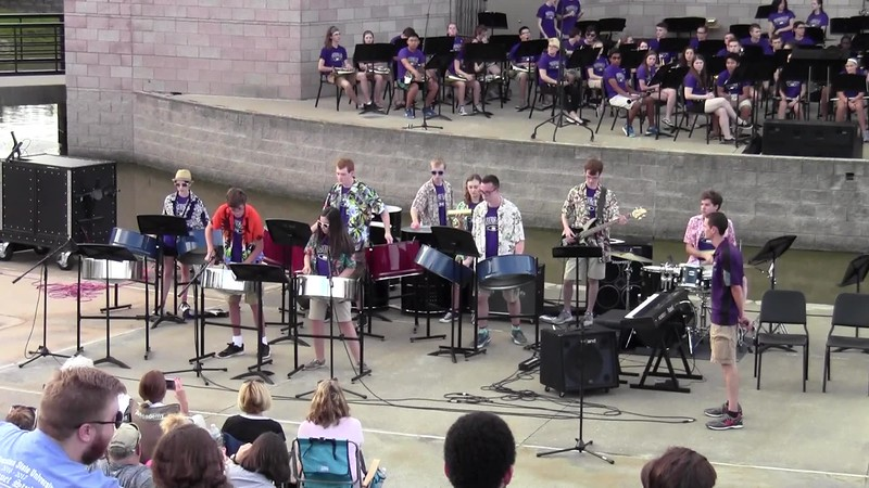 "College Station HS Cougar Steel Drums - ""Cheeseburger in Paradise"""