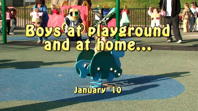 Playground and at home