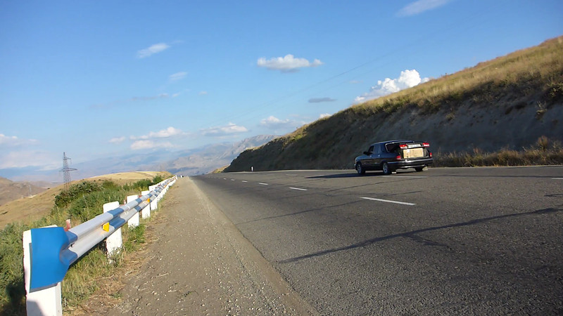 Epic descent to the small village of Chiva after climbing all day out of the Yerevan plain