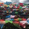 Prayer flags near Dechen
