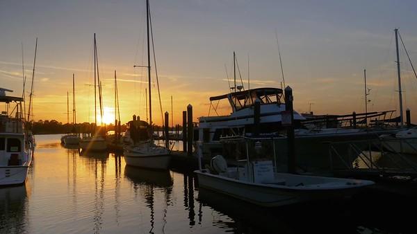 Waterfront Marina Sunset Timelapse