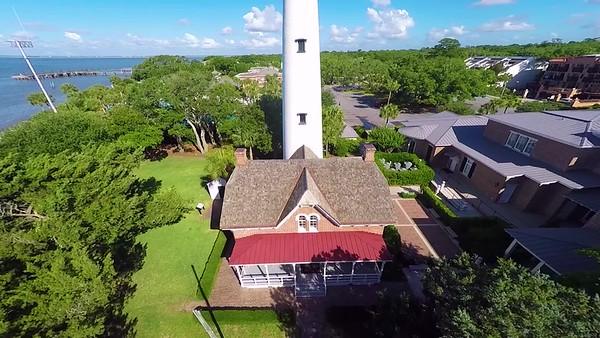 Drone - St Simons - Village - Lighthouse