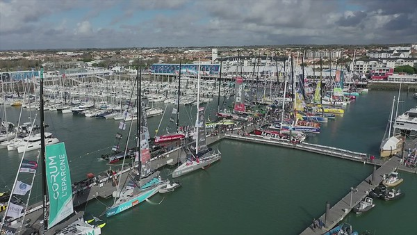 Vendée Globe Race Village Drone Video