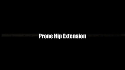 Prone Ball Hip Extensions