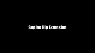 Supine Hip Extensions on Ball