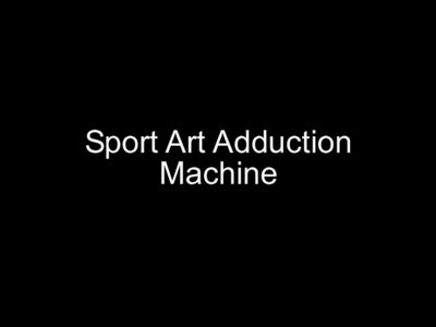 Sport Art Adduction Machine