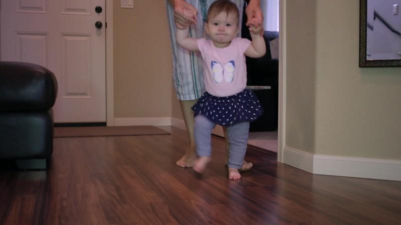 Clara starts walking