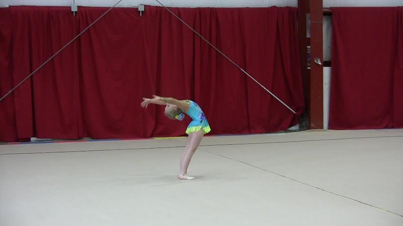 2016 March Rhythmic gymnastics competition.Sonya.