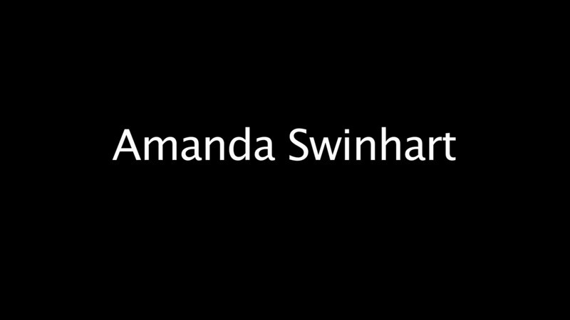 Student profile of Amanda Swinhart for JO515 Multimedia Photojournalism, by Brianna Healy, Spring 2011.