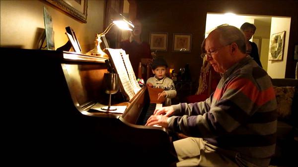 Piano playing at Christmas