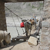 Pack horses crossing the bridge at Zanskar Sumdo (video by Jochen)