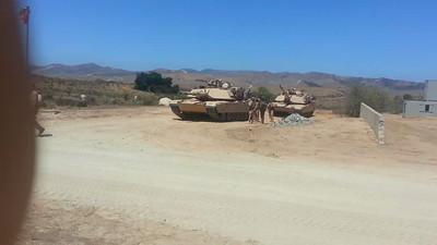 USMC M1A1's at Combat Town