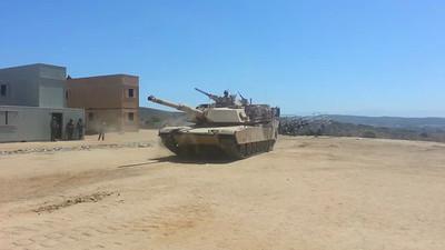 USMC M1A! Tank at Combat town