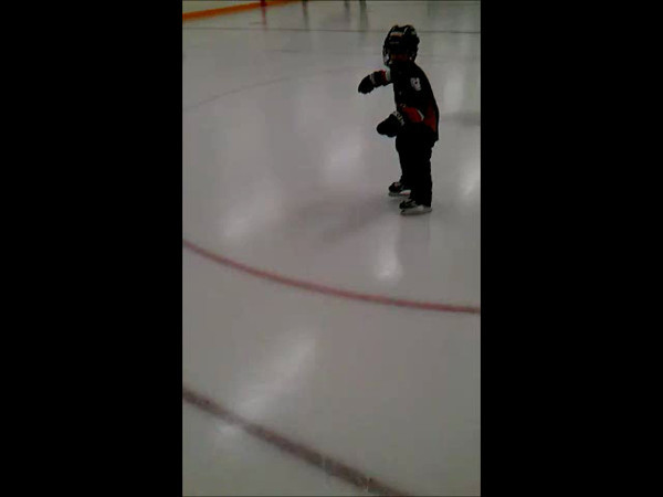 Monster learning to skate. 6 years old.
