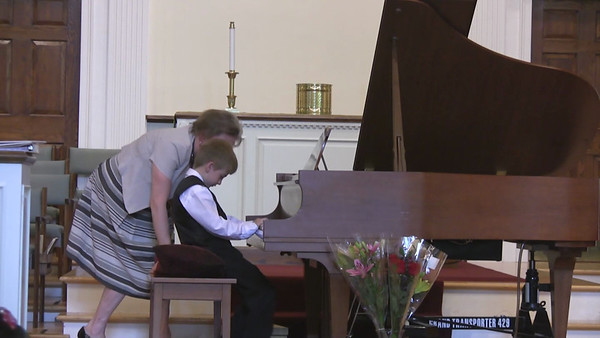 June 2012. Peter performs at Allegretto piano studio's spring recital.  Spanish Fiesta by Bastien, Boogie #1 by G. Martin