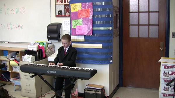 5th grade Christmas show-Peter's solo