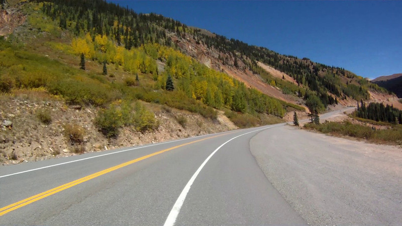 Red Mountain Pass on 9/23/2011.  The video is sped up significantly.  We were not driving as fast as it appears.  Some of the switchbacks are 10-15 MPH.