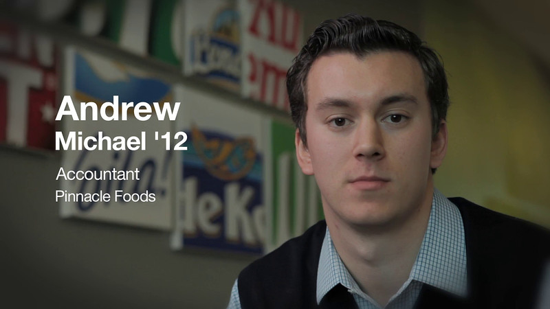 Andrew Michael '12, Accountant at Pinnacle Foods