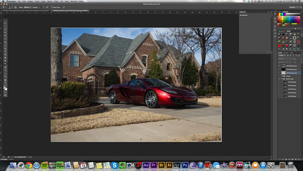 "Red McLaren "" Poise "" 