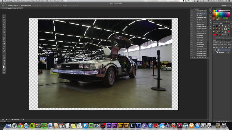 Delorean Front | Post Process TimeLapse