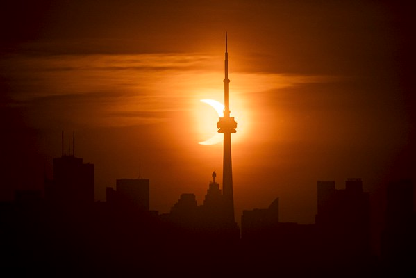 Partial Solar Eclipse Time Lapse As Seen From Toronto. June 10, 2021