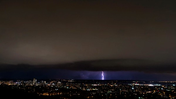 August 11th Night Lightning And Shelf Cloud Time Lapse