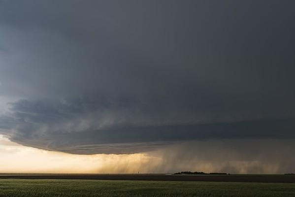 Burlington, Colorado Tornado Warned Supercell. 4k Time Lapse