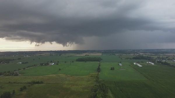 Shelf Cloud Via Drone. August 1st, 2021.