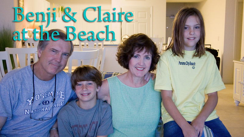 At The Beach With Benjamin & Claire