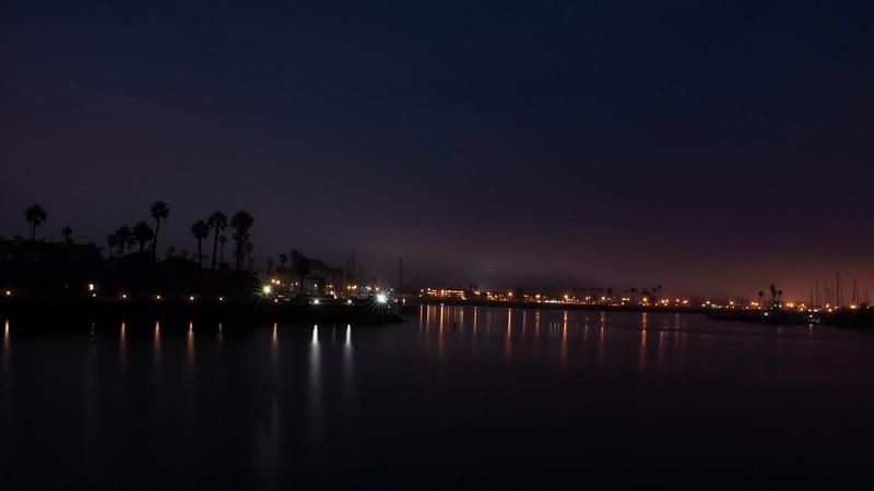 Dawn Harbor Mouth.Hyper Lapse