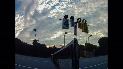 Clouds over Tennis Score