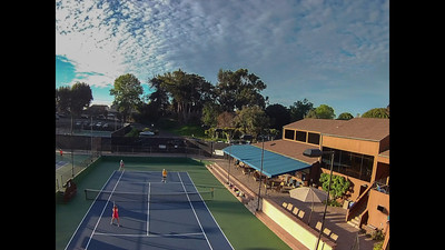Rolling tennis clouds