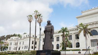 Father Serra Statue hyperlapse