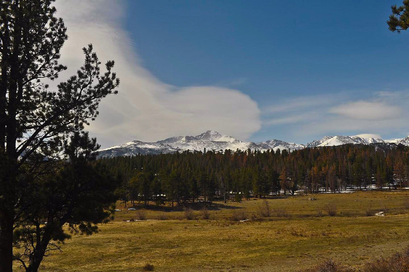 This is a video of Long's Peak in Rocky Mountain National Park