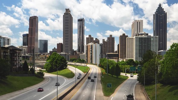 Downtown Atlanta Time Lapse