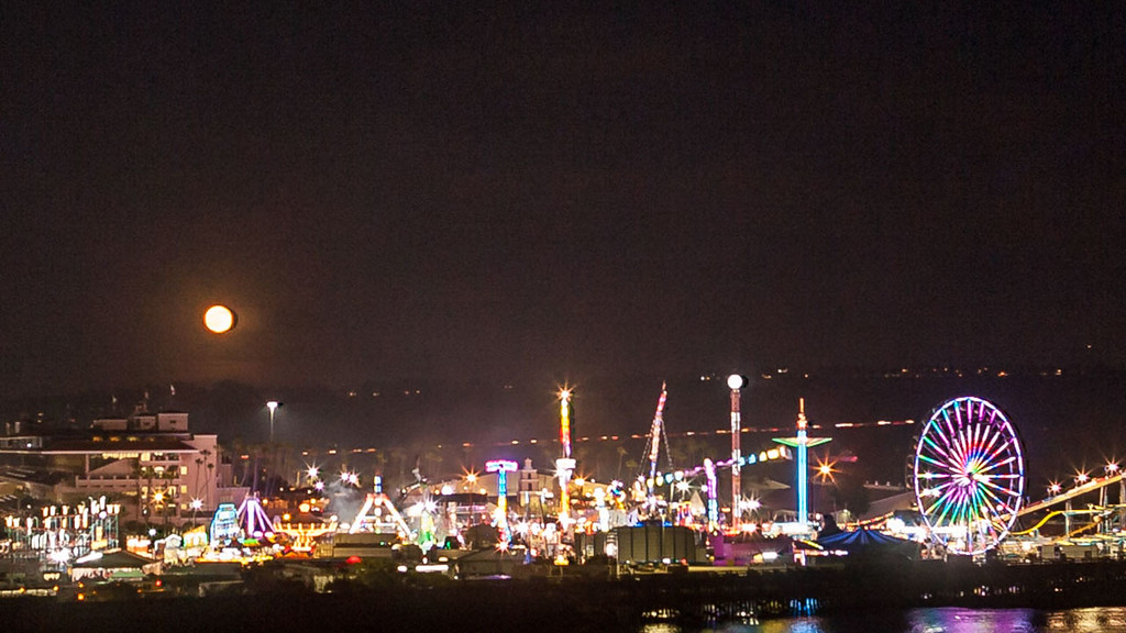 Full Moon rising over San Diego Fair