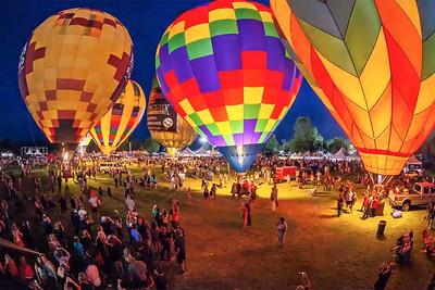 Temecula Balloon Festival's balloon glow.
