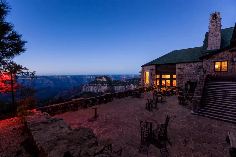 Grand Canyon Lodge North Rim in time lapse