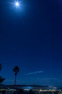 Lunar eclipse time lapse