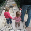 Eve, Lillian and Noah walk holding hands at the Como Conservatory.<br /> February 11, 2009