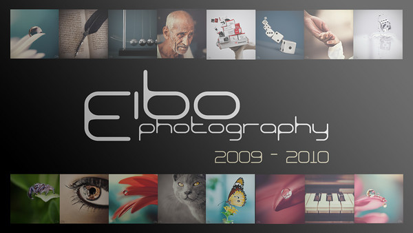 Title: Eibo Photography 2009-2010 Fine Art Productions  Description: Slide Show HD Video  Length: 9:46   Categories: Macro, Still Life, Animals, Waterscapes, Conceptual   Photography: Eibo Music: Alex Yiannaras Montage: Eibo  ---------------------------------------------------  NOTE: For slow connections please choose a lower resolution from top menu or simply resize browser's window for automatic adjustment.