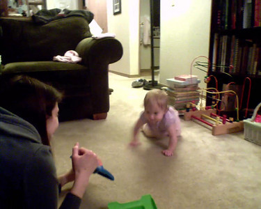 See, she really can crawl (instead of swimming on the floor)