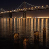 San Francisco Bay Bridge LED lights 6/9/2013