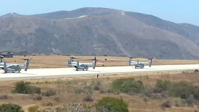 Osprey MV-22B getting ready for an Air Assault