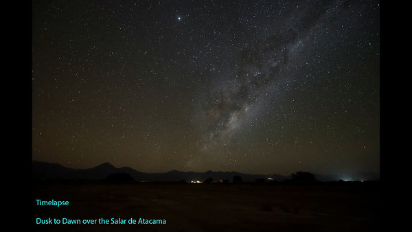 Dusk to Dawn in the Salar de Atacama