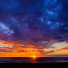 Winter sunset on the Pacific Ocean