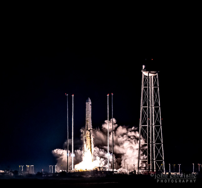 Antares Rocket Lifting Off from Launchpad at NASA Wallops Island, VA 11/17/18