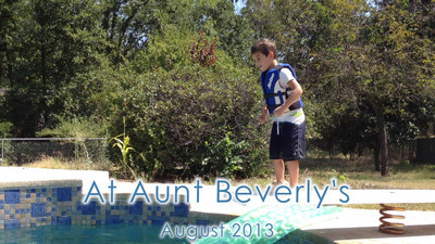 Enjoying Aunt Beverly's Pool