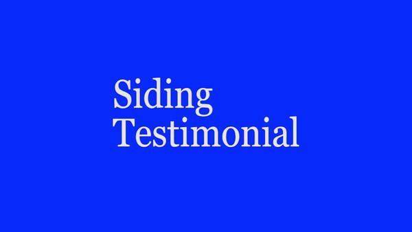 Customer Testimonial on Vinyl Siding Replacement