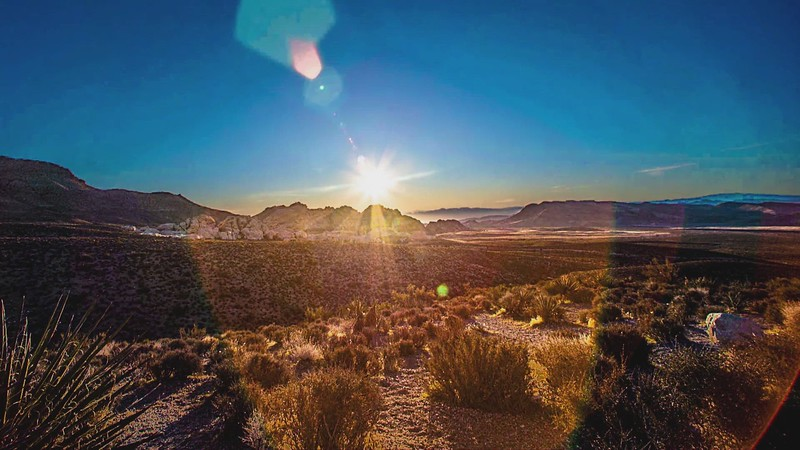 A Time-Lapsed Day at Red Rock Canyon, Las Vegas